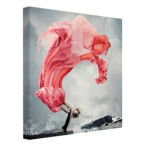 Bilderwelten Leinwandbild - Frau am Meer - Quadrat 1:1, 100cm x 100cm