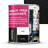 ESMALTE FORJA ANTIOXIDANTE, proteccion y decoracion sobre acero. (750ML- 1,3 Kilos, NEGRO)