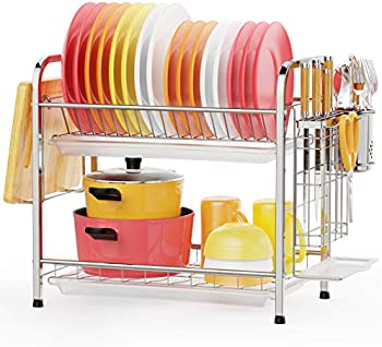 Gslife 2 Tier Stainless Steel Dish Drying Rack