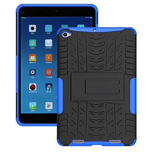FullProtecter Xiaomi Mi Pad 2 Hülle,Bumper Cover Schutz Tasche Handyhülle Schutzhülle Silikon TPU+PC Hardcase für Xiaomi Mi Pad 2(Blau)