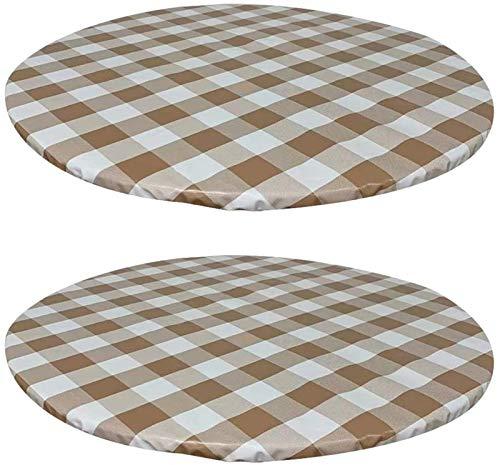 XDKS Tovaglia rotonda impermeabile, rotonda, antiscivolo, per tavolo circolare, protezione rotonda, resistente al calore e facile da pulire (70 cm, kaki)
