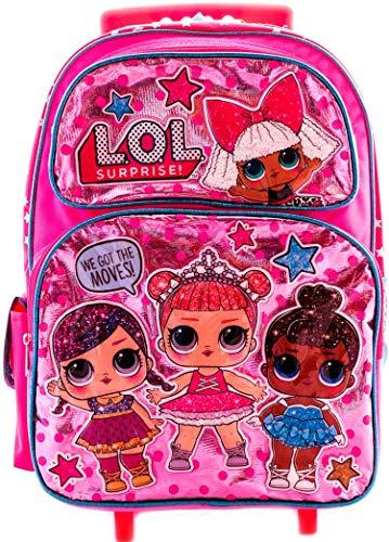 L.O.L Surprise! Large School Rolling Backpack 16