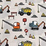 MAGAM-Stoffe Stop! Baustelle Kinder Stoff Oeko-Tex
