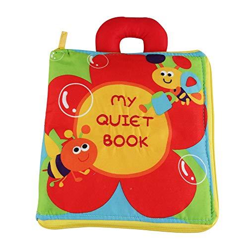 Quiet Bücher - Ultra Bücher weiche Baby, Touch and Feel-Tuch-Buch, 3D Bücher Stoff Aktivität für Babys / Kleinkinder, Lernen zu Sinnes Buch, Identifizieren Fähigkeit Jungen Mädchen, Hart arbeiten Buch