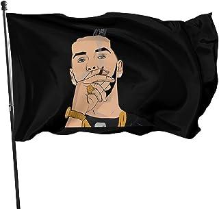 LZHANDA Jardín Banderas Decoración de Exterior, 3x5 Foot Flag Anuel AA Real hasta La Muerte Men Running 2 Flag Vivid Color and UV Fade Resistant with Brass Grommets 3 X 5 Feet 3x5'' Flag