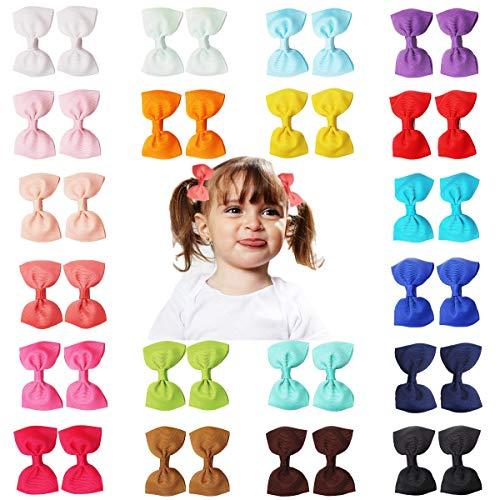 Pinza de pelo para bebés, diseño de lazo fabricado con grogrén, pinza de clip