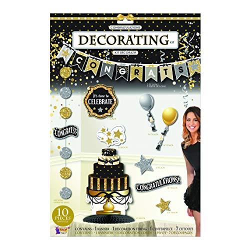 Forum Novelties x79827 - Kit per decorazione congratulazioni, multicolore