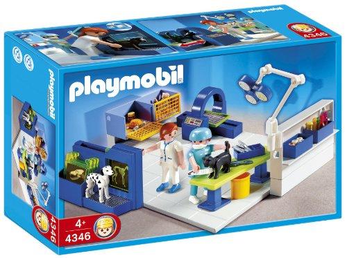 PLAYMOBIL - Quirófano de Animales, Set de Juego (4346)