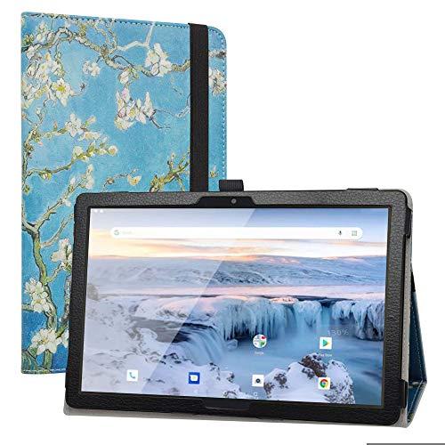 """Labanema Coque avec Archos T101 4G, Slim Fit Cuir PU étui Housse Fin et Pliable Coque pour 10.1"""" Archos T101 4G Tablet - Almond Blossom"""