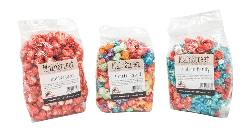 Mainstreet Candy Seattle Mall Coated Flavored Popcorn Cotton Pack- Ca Variety San Diego Mall