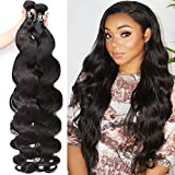 8-42Inch Brazilian Human Hair Bundles Body Wave 3 Bundles 10A Grade 100% Unprocessed Virgin Long Body Wave Human Hair Remy Weave Extensions Natural Color (20 20 20, natural color-body wave)