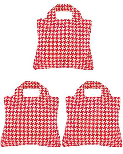 Envirosax A71883c Trio Reusable Shopping Bags, ((Set of 3), Cherry Lane Houndstooth