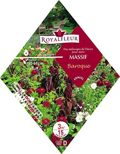 Royalfleur PFRK08634 Graines de Mélange de Fleurs mon Massif Baroque 3 m²