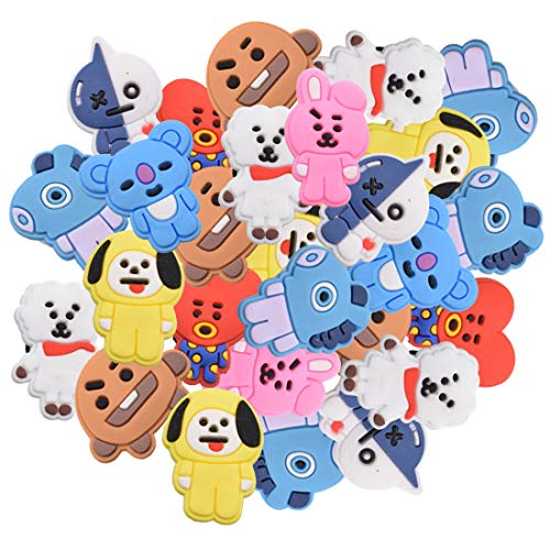 BTS Animal Shoe Charms - Tomicy BTS PVC Shoes Charm Crocs Cartoon Lovely Shoes...