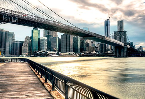 Oedim Cuadro del Puente de Brooklyn New York de 95x65cm | 5mm de Grosor | 8 Modelos Diferentes a Elegir