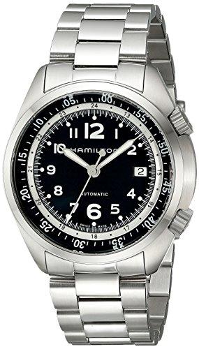Hamilton Reloj Analógico para Hombre de Automático con Correa en Acero Inoxidable H76455133