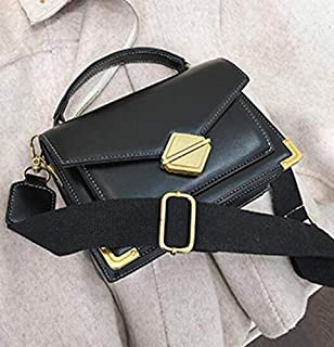 Adebie - Luxury Handbag Vintage Fashion Tote Bag 2019 New High Quality PU Leather Women's Designer Handbag Lock Shoulder Messenger Bags 20 X 8 X 14 cm Black []