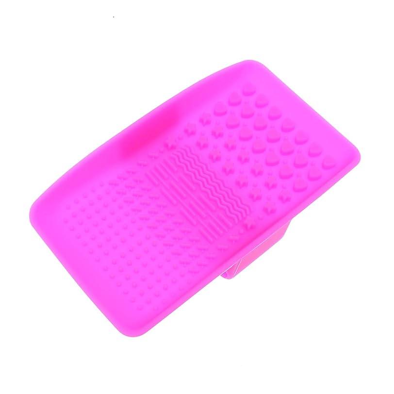 最小化する実験中間Beaupretty 吸引ブラシが付いているシリコーンのブラシのクリーニングのマットの携帯用化粧品のブラシの洗剤