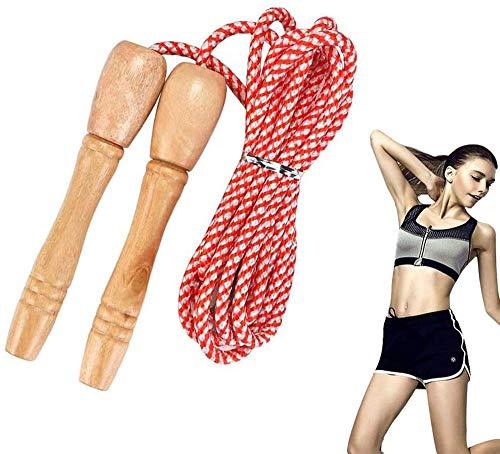 KOMUS Springseil, Licht, Jump Rope von Länge Einstellba, Speed Rope mit Anti-Rutsch Griffe für Boxen, Sport, Training, Ausdauer, Abnehmen,Kinder Baumwolle Seilspringen,Speed Rope