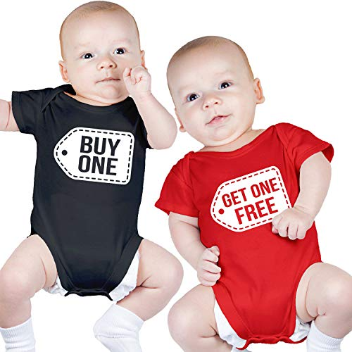 Nursery Decals and More Cute Twin Outfits, Includes 2 Bodysuits, 3-6 Month Buy One Get One
