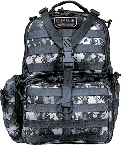 G. Outdoor Products GPS GPS-T1612BPGDC Tactical Range Backpack That Holds 3 Handguns in Gray Digital