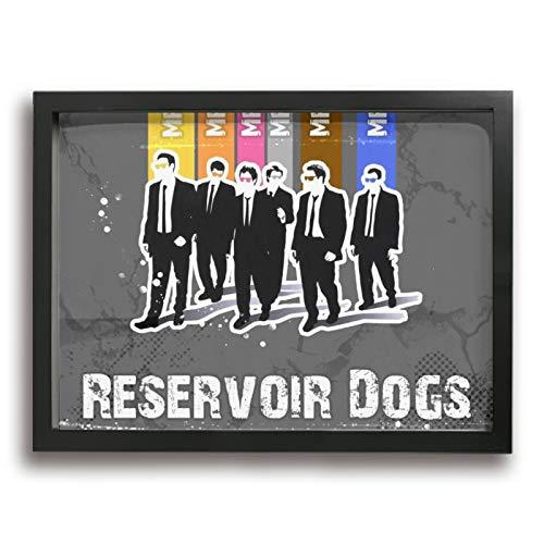 Reservoir Dogsレザボア・ドッグス アートパネル 装飾画 額縁付き インテリア 壁掛け シンプル 壁飾り 家の壁のアートパネル 装飾画 北欧 現代 アートボード 木製の枠 アート 美しい 玄関 リビングと寝室の飾り 部屋飾り キャンバス絵画 おしゃれ 写真 ソファの背景絵画 贈り物