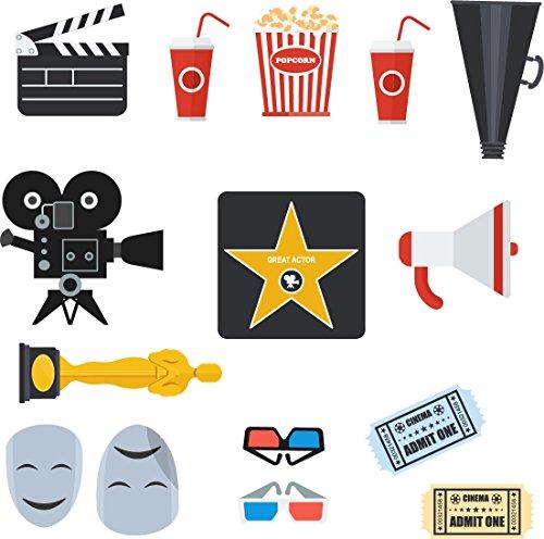 Oedim Atrezzo Photocall Cine | Atrezzos Graciosos | Accesorios Photocall Divertido | Complementos para photocall | Set para Bodas | Complementos Económicos para Bodas