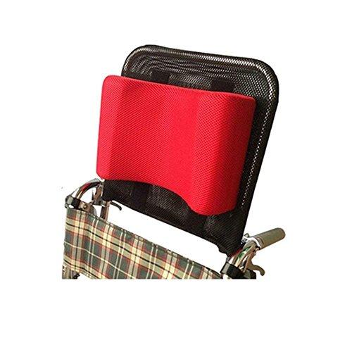 JYTB Reposacabezas para Silla de Ruedas Soporte para el Cuello Acolchado Ajustable para la Cabeza, Accesorios universales portátiles para sillas de Ruedas para Adultos, Rojo, 16