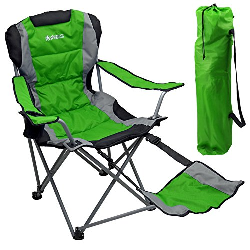 Outdoor Quad Camping Chair - Lightweight, Portable Folding Design - Adjustable...