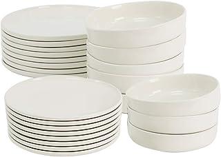 ProCook Stockholm - Service de Table en Grès - Set 24 Pièces/Pour 8 Personnes - Style Scandinave - Petite Assiette, Grande...