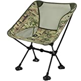 MARCHWAY Ultralight Folding Camping Chair with Anti-Sinking Wide Feet, Portable Compact for Outdoor Camp, Beach, Travel, Picnic, Hiking, Lightweight Backpacking (Camo)