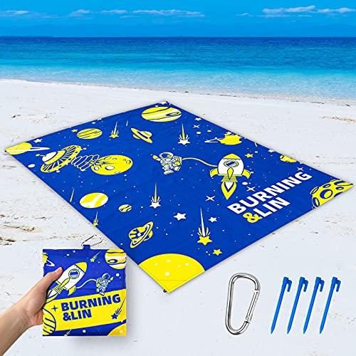 Sandproof Beach Blanket - Space Design - Beach Mat Sand Free 82