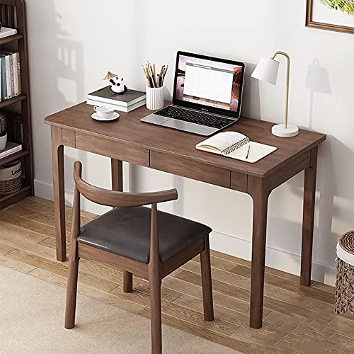 Pequeño Estudio Escritorio de Escritura Mesa de Juegos Cajones de Almacenamiento de Madera Marco Estable Fácil de Montar Estilo Moderno y Simple Oficina en casa