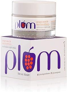 Plum Grape Seed & Sea Buckthorn Nurturance Night Cream | For Normal, Combination, Dry Skin | Overnight Hydration | Vitami...