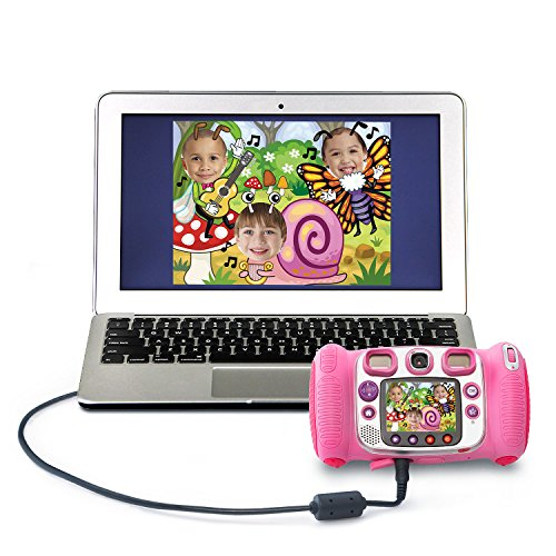 VTech Kidizoom Duo Selfie Camera, Amazon Exclusive, Pink, Great Gift for Kids, Toddlers, Toy for Boys and Girls, Ages 3, 4, 5, 6, 7, 8, 9