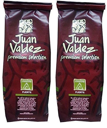 Juan Valdez Cumbre, Fuerte (strong) - Ground Colombian Coffee, Premium Selection, 17.6 oz (8.8 oz - 2pack)