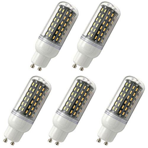 Aoxdi 5x LED GU10 Energiespar Mais Leuchtmittel Birnen 9W, Warmweiß, LED 9W Mais Licht Lampen 96 SMD 4014 LED GU10 Energiespar Lampe, AC220-240V