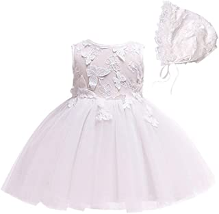 Bow Dream 2pcs Baby Girl Dress Infant Butterfly Wedding Formal Christening Baptism Party Dresses for 0-24 Months