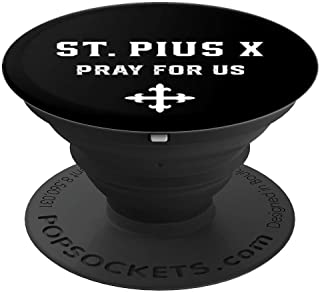 St. Pius X Catholic Saint Boys Confirmation Gift Zx - PopSockets Grip and Stand for Phones and Tablets