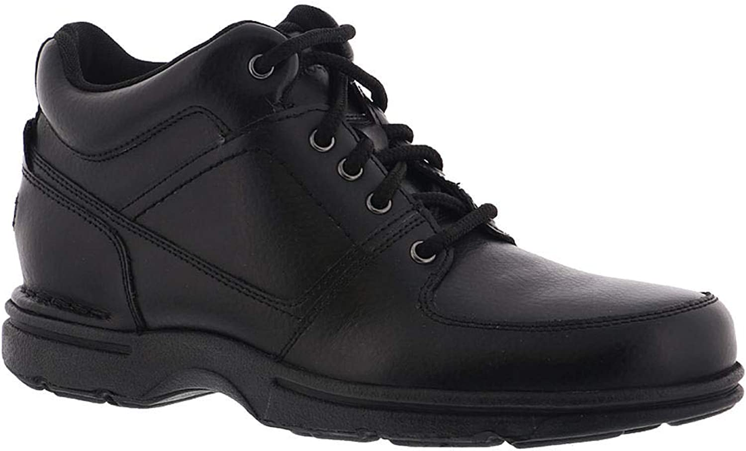 Rockport Mens Eureka Leather Closed Toe Ankle Fashion Boots, Black, Size 12.0 US   11.5 UK US