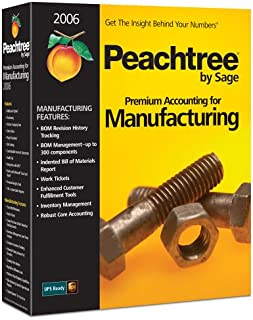 Peachtree Premium Accounting For Manufacturing 2006