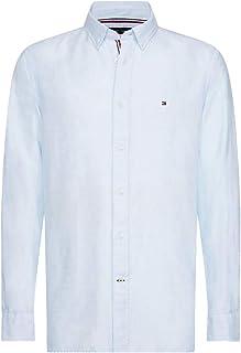 Tommy Hilfiger Men's Cotton Linen Twill Shirt Shirt