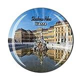 Schönbrunn Palast Wien Österreich Kühlschrankmagnet Reise Souvenir Geschenk Zuhause Küche Kühlschrank Dekoration Magnetsticker Kristallmagnet Kollektion