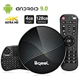 Bqeel Android TV Box Smart Box U1 MAX mit Tastatur【4G+128G】 Android 9.0 TV