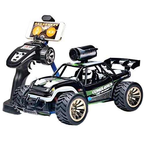 Pkjskh 1:16 Model Remote Control Car High-Speed Real-time Transmission Remote Control Car Control Car with WiFi Camera Tire USB Charging Best Toy Car (Compatible with Android and Apple)