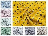 Musselin-Baumwoll-Stoff Luna aus 100% Baumwolle mit dem