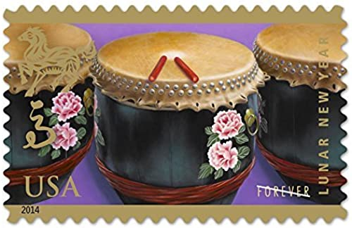 ahorra 50% -75% de descuento Year of the Horse  Drums (Celebrating Lunar New Year), Year), Year), Full Sheet of 12 x Forever Postage Stamps, USA 2014, Scott 4846 by USPS  en linea