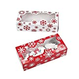 Christmas Snowflake Cookie Treat Boxes - 12 Bakery Boxes - Holiday Party Supplies