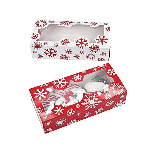 Share Your Special Christmas Treats in These 12 Holiday Snowflake Bakery Boxes.