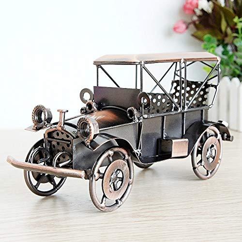Modelo De Coche De Hojalata Antiguo Coche Antiguo Con Reloj Hierro Decoración Del Hogar Bar Decoración Regalo,Copper